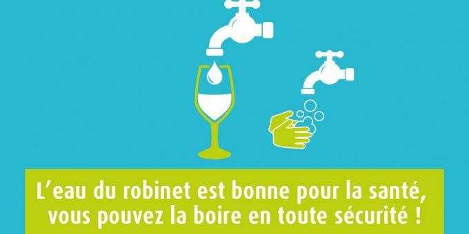 L'eau du robinet sûre et contrôlée !