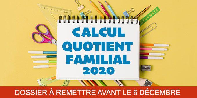 Calcul du quotient familial 2020