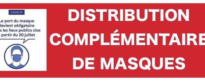 Nouvelle distribution complémentaire de masques